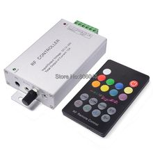 DC12V 24V 12A 3x4A RGB LED Controller Audio Sound Music Controller with 18Key RF 433.92mhz Wireless Remote for RGB Strip Light(China)