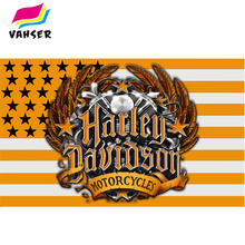 "2017 New Design ""Harley Davidson"" Logo Flags Exclusive 3x5ft 100% Polyester Sports Flag & Banner Free Shipping Home Decorations(China)"