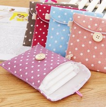 1Pcs 5 Colors New Small Delicate Storage Bag Great Hand Feel Convenience Ladies' Bag Clean Women Short Cotton