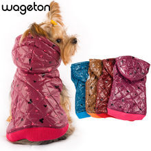 Free Shipping! WAGETON fashion dog clothes Hot sale! Wholesale and Retail designer pet clothing -5 colors(China)