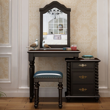 american Solid Wood Dresser, Makeup And Stool , Storage Desk,dressing Table Set With Chair
