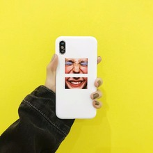 Case For Apple iPhone 7 6S 8 6 Plus X 5 4 Phone Case Funny Old Man And Old lady Portrait Jigsaw Puzzles Soft TPU Simple Style(China)