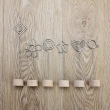 Kicute Lovely Wood Memo Pincer Clips Paper Photo Clip Holder Wooden Small Clamps Stand School Office Supplies Accessories Decor(China)