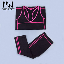 Innersy Women Sport Suit Sport Shirts Vest + Sports Pants Yoga Set Running Fitness Training Clothing for Women Jzh32(China)