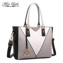 Buy 1 Get 1 at 50% Off Miss Lulu Women Handbags V Shape Top-handle Bags Shoulder Bag Cross Body Bags Girls Satchel Tote LG1641