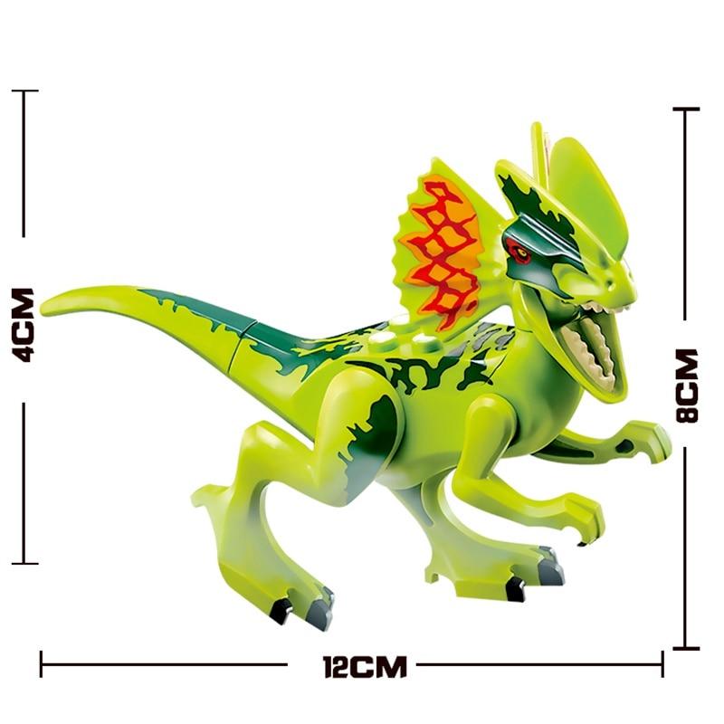 Legoing jurassic World park Dilophosaurus Dinosaurs Tyrannosaurus Rex toy Models Building Blocks Toys For Children Dinosaur gift