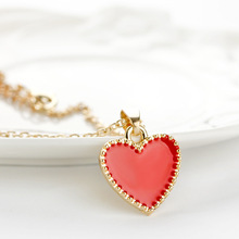 2017 hot fashion new love drops of oil ladies necklace holiday gift chain manufacturers wholesale(China)