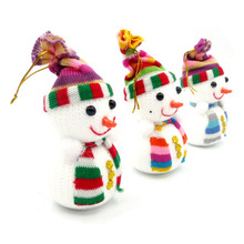 6 Pcs/Lot Lovely Hot Sale! Exclusive Christmas Decoration Tree Decorations Snowman Doll Christmas Socks Children's Gift Tiny Toy
