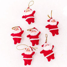 6PC Christmas Santa Hanging Decoration Ornaments Christmas Tree Home Multicolor Party New Year Decor Happy Wholesale