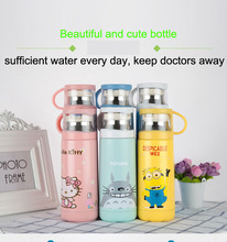 HOT Cute Cartoon Thermos Stainless Steel Vacuum Flask Cup For Kid's Gift Thermos Cup Coffee Mug Travel Bottle(China)