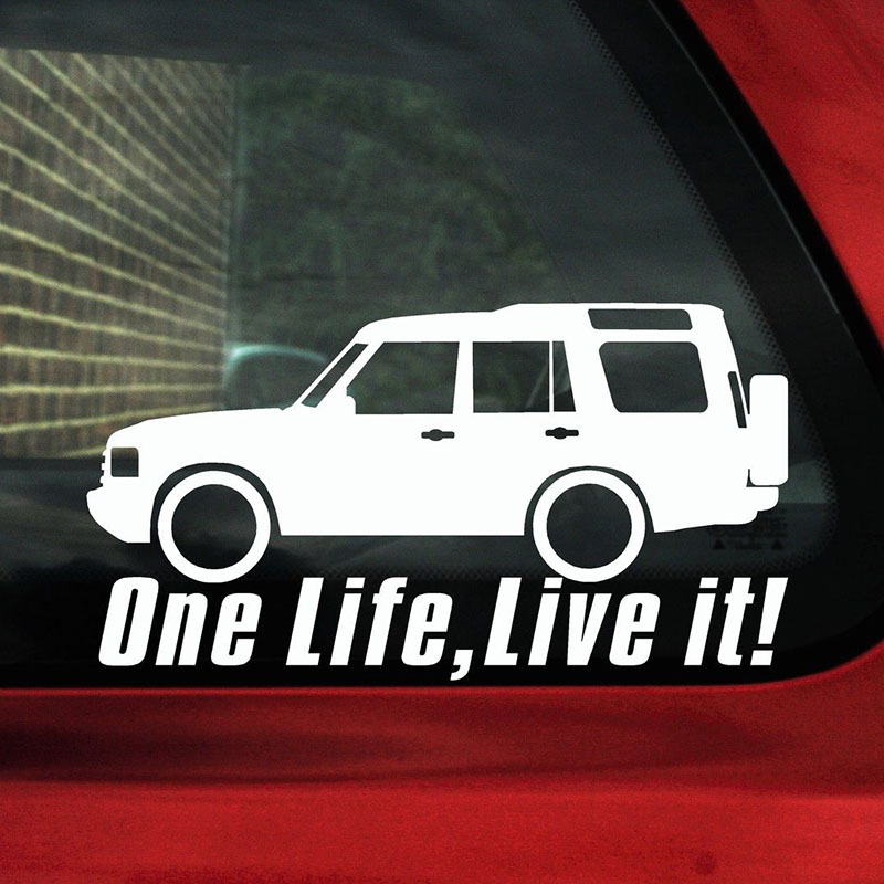 Powered by One Life Live It Decal Sticker OFF-Road Land Rover 4x4