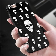 Anti Shock Skull Case For iPhone 6 6S 360 Degree Full Protection Slim Soft Back Cover for iPhone 6 Plus 6S Plus Cell Phone(China)
