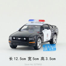 KINSMART Die-Cast Metal Model/1:36 Scale/Ford Mustang GT Police toy/Pull Back Car for children's gift or for collection(China)