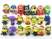 21Pcs Minions Superman Minions Shoe accessories Shoe Charms Shoe Decorations for Croc Bracelet Wristband Kid Gift(China)