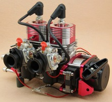 Remete controller Gas RC cooling Marine Boat Ship Gas Engine Strong Super 2 Cylinders 58CC/52CC  Motor gasoline engine