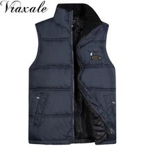 Men's Sleeveless Vest Homme Winter Casual Coats Male Cotton-Padded Men's Warm Vest Photographer Men Waistcoat Plus size 5XL(China)