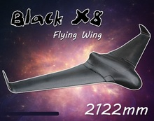 New Arrival 2 Meters 2122mm Skywalker Black x-8 FPV EPO Large Flying Wing Airplane Latest Version X8 RC Plane Remote Control Toy(China)