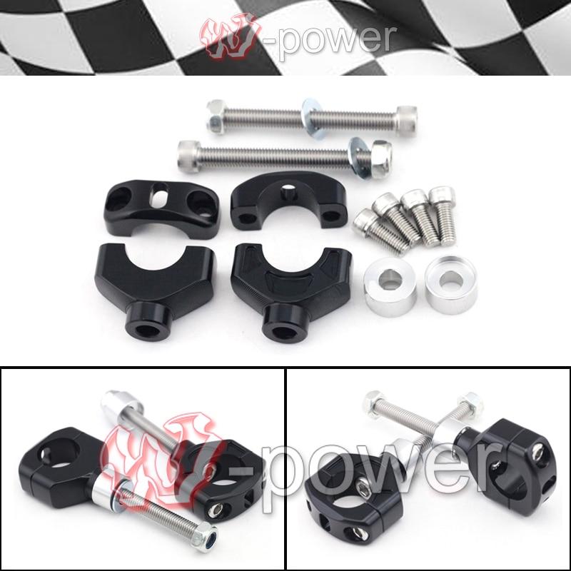 fite For KTM 690 HERZOG /LC4 Enduro R/LC4 Supermoto/SMC-R Black Motorcycle Aluminum Handlebar Clamp Riser mount height 40mm-50mm<br><br>Aliexpress