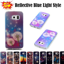 S6 Edge Blue Light Ultra Thin Soft TPU Coque For Samsung Galaxy S6 Edge Case Silicone Back Cover for S6 Edge Coque Fundas Etui