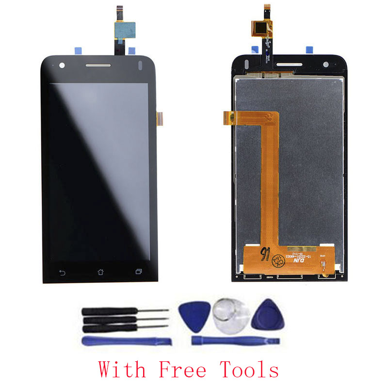 OEM 100% Test 4.5 inch LCD Display Touch Screen Digitizer Assembly Replacement For Asus Zenfone C ZC451CG Black With Free Tools<br><br>Aliexpress