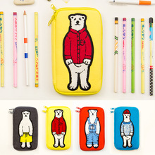 Fromthenon Bear Large Capacity Pencil Case Lovely Pencil Cases For Girls School Kawaii Cute Pencil Box Stationery Store Supplies
