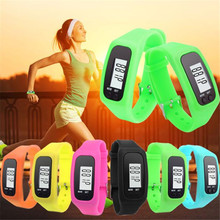 2017 2016 Fashion Hot Men Silicone Sport Watch Digital LCD Pedometer Run Step Walking Distance Calorie Counter Watch Bracelet
