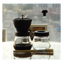Household Manual Coffee Grinder hand coffee grinder Mini grinder washable & removed ceramic grinding core with Dust cover