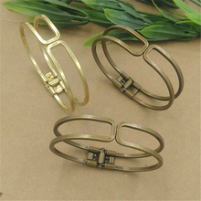 5Pcs Brass Bangle Antique Bronze Plated Vintage Simple Cuff Bangle(China)
