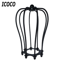ICOCO Vintage Covers Metal Wire Shades Antique Pendant LED Bulb Chandelier Cage Industrial Ceiling Hanging Guard Cafe Bars Lamp(China)