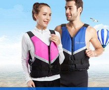 Family Professional Life Vest Neoprene Surfing Rafting Snorkeling PFD Inflatable Safety Jackets Boating Fishing Water Sport Vest(China)