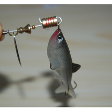 Fishing Small Fish Spinner Bait Noisy Bell Soft Lure 7g Open Belly Spoon Artificial  Lures