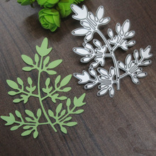 Leaves Metal Dies Cutting For Scrapbooking DIY Stencils For Painting Crafts DIY Embossing Folder Photo Album Decor 75*90mm