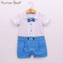 Buy Humor Bear New Summer Style Baby Boy Clothing Set Fashion Gentleman Style Casual Short-Sleeved Clothes Children Clothing for $7.21 in AliExpress store