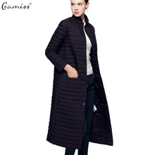 Gamiss Women Winter Light Down Jacket Women 90% White Duck down coat Long over knee Parka Slim Thin Female Outerwear Coats