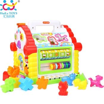 Multifonctionnel Musical Toys Coloré Bébé Fun House Musical Électronique Blocs Géométriques De Tri D'apprentissage Éducatifs Toys Cadeaux