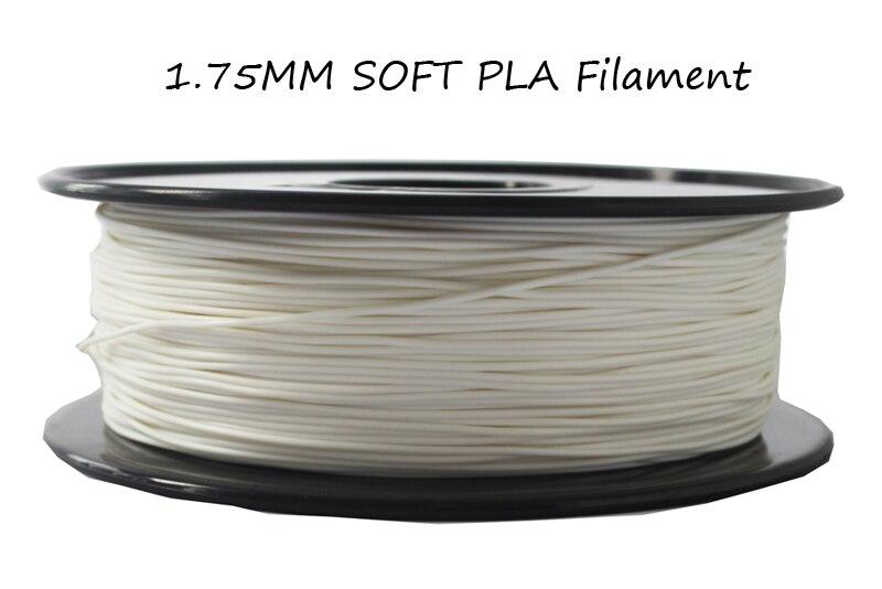 Soft bendable plastic Soft PLA filament 1.75mm impressoras 3d filament 1 kg /plastic spool 1.75mm 3d printer filament <br>