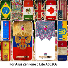 AKABEILA  Silicone TPU Phone Cases For Asus ZenFone 5 Lite ASUS_T00K A502CG ZenFone5 Lite Case Painted UK USA Russia Flag Covers
