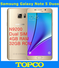 "Samsung Galaxy Note 5 Duos N9200 Dual Sim Original Unlocked 4G LTE GSM Android Mobile Phone Octa Core 5.7"" 16MP RAM 4GB ROM 32GB"