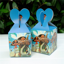 6pcs/lot Moana movie Maui Favor Box Candy Box Gift Box Cupcake Box Kids Birthday Party Supplies Decoration Event Party Supplies
