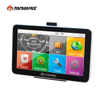 TOPSOURCE TS704 HD 7'' Car Truck GPS Navigation Windows CE 6.0 FM 8GB/ 256MB /800MHZ Map For Europe/Navitel/USA Lifetime Maps
