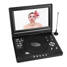 Portable HD 9.8inch LCD Screen DVD Player Game TV Player FM Radio Receiver with US/ EU/ UK Plug CD Player(China)