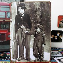 Free shipping Charlie Chaplin Tin Sign Metal Poster Wall Decoration Bar Club Shop Home Hanging Decor ,30x20cm