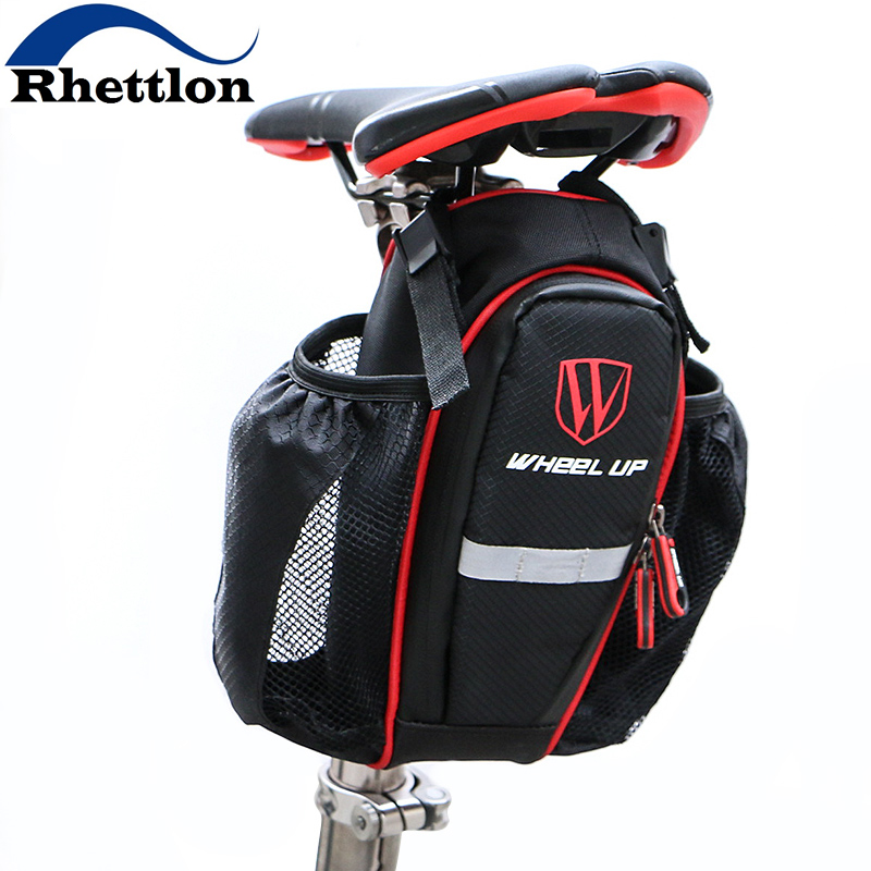 WHEEL UP 2 Pockets Bike Bag Bicycle Seatpost Bag For MTB Road Bike Seat Rear Tail Pouch Bottle Bags New 900D Cycling Accessories<br><br>Aliexpress
