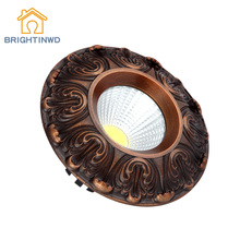 BRIGHTINWD New Spot Light LED American Copper Down Light COB Copper Ceiling Light Vintage LED Ceiling Light(China)