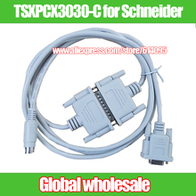 1pcs 2M white SC-09 FX PLC serial cable for Mitsubishi FX1S/FX1N/FX2N/3U / PLC programming data download cable SC09