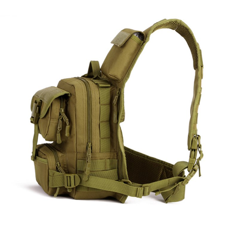 Tactical Military Daypack Sling Chest Pack Bag Molle Laptop Backpack Large Shoulder Bag Crossbody Duty Gear for Hunting Camping(China)