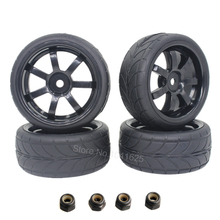 4Pcs RC Tyre & Wheel Rim for 1/10 Scale Nitro Power On Road Car HSP Sonic 94102(China)