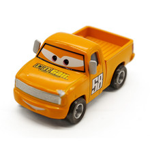 Cartoon Movie Pixar Cars 2 Classical Yellow Octane Gain No.58 Pickup Truck Diecast Metal Toy Car 1:55 Alloy Model Car Gift(China)