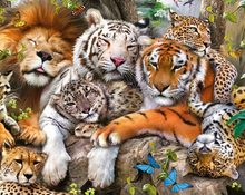 3D Diy diamond paintings drill rhinestone needlework By numbers Three tigers pictures Diamond embroidery mosaic zs46