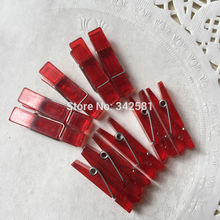 Red Clothespins Mini, Small & Decorative Sizes - paper crafts party favors holidays gift wrap home decor mixed media diy wedding